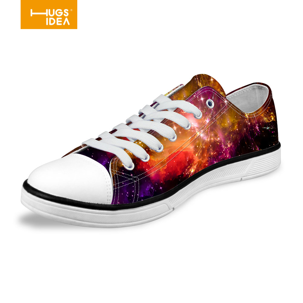 Multicolor Women Canvas Backpack Stylish Galaxy Star Universe Space Flat Shoes Casual Female Girls Walking Shoes High Quality(China (Mainland))