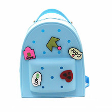 Woman bag New 2016 brand fashion Spring jelly double woman shoulder bag Sweet cartoon embroidery students backpack fashion bag(China (Mainland))