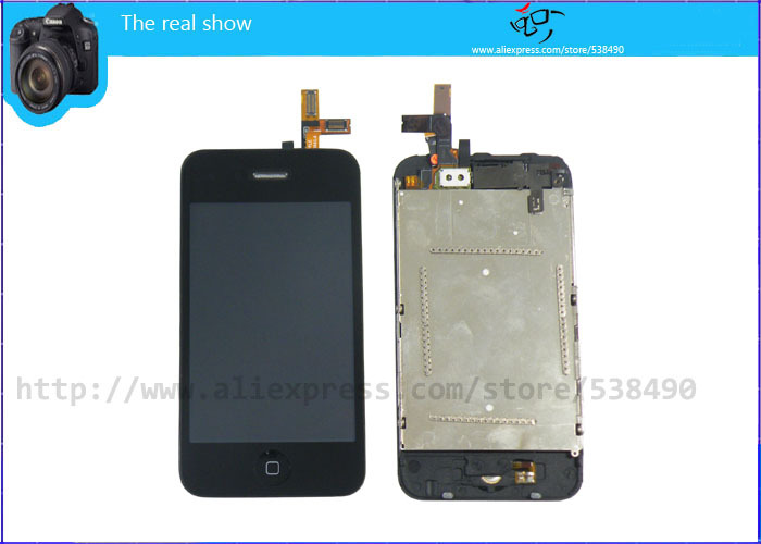 Free Shipping, 5pcs/lot,For iphone 3GS LCD Complete with Repair Tools, Original LCD + High Copy Touch + Frame + Repair Tools(China (Mainland))