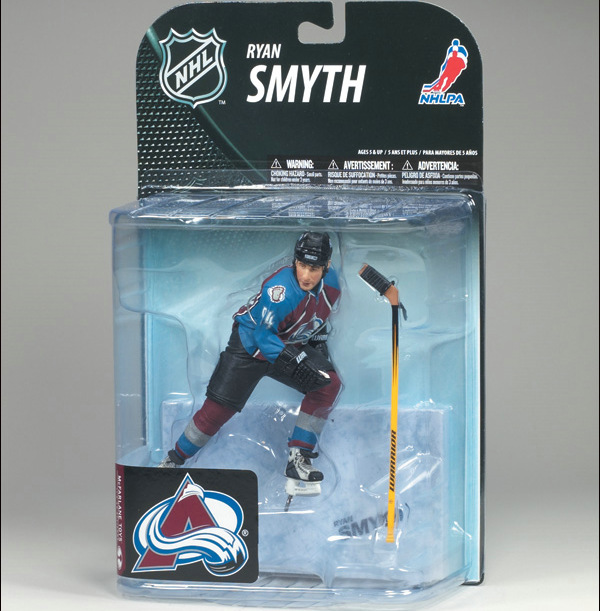 Animation Garage Kid Collection Toys: McFarlane Action Figure PVC Dolls NHL Ice Hockey Player Ryan Smyth Model Excellent Gifts(China (Mainland))