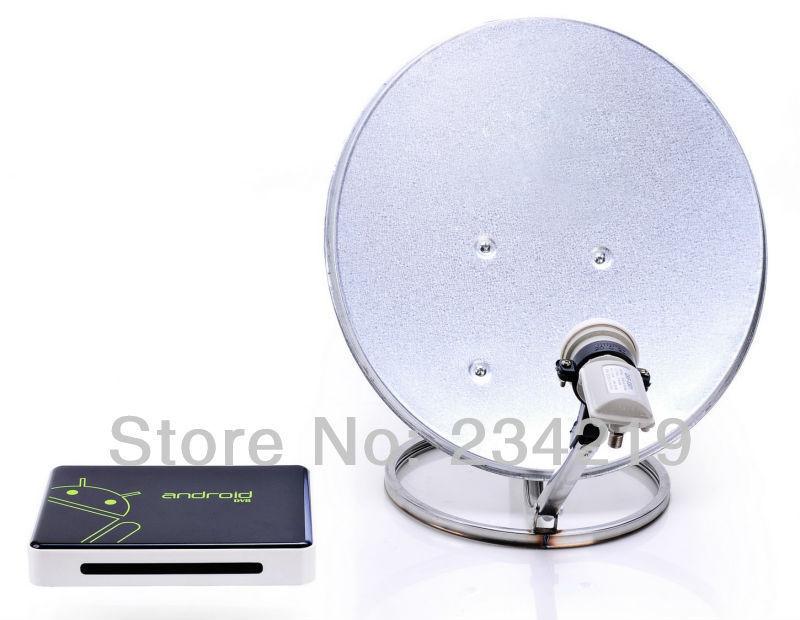 wholesale 10pcs a lot DVB-S2 DVB S2 hd satellite receiver tuner digital Android 4.0 Smart TV Box USA brazil mpeg4 1GB/4GB ET02(China (Mainland))