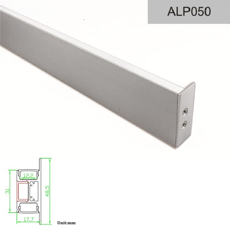 Pendant led light indoor lighting Aluminum Profile 10m For 12V LED strip light or led bar used for home office lighting ALP050(China (Mainland))
