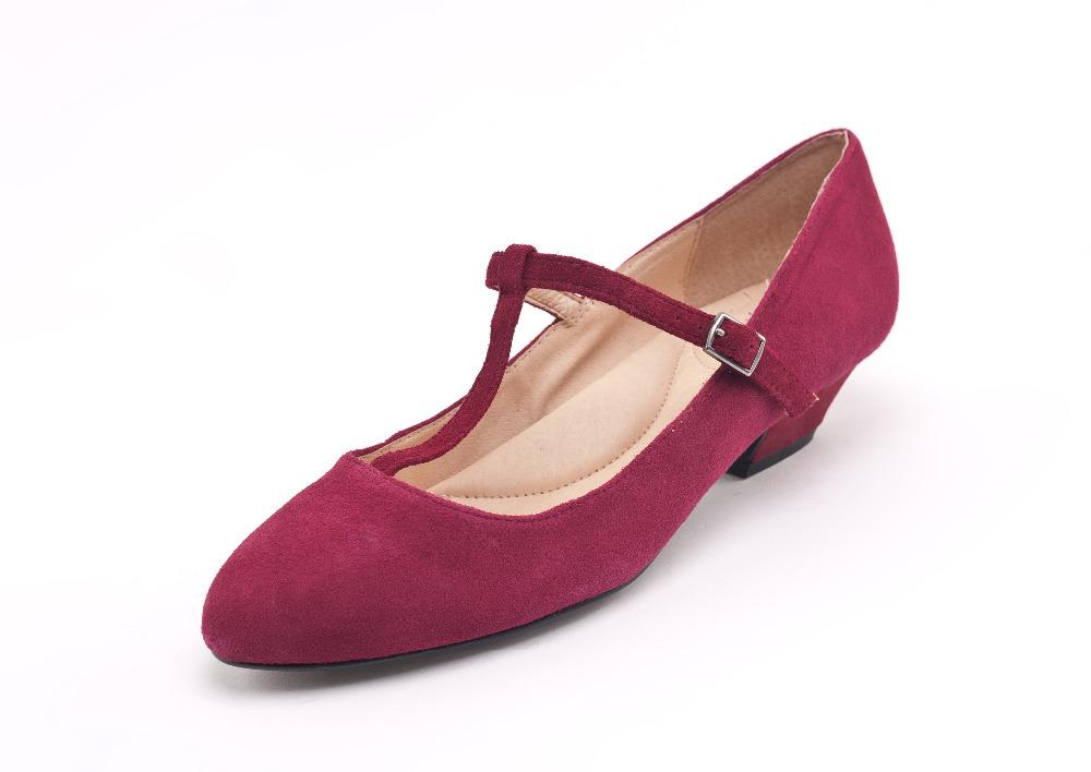 Women Genuine Leather Shoes Wedding Pumps Brand Black Red Bridal Ladies Shoe Sheepskin Size 12 41 High Heels Gz - E Life store