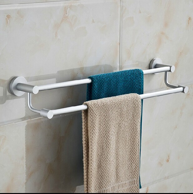 double towel bar towel shelf rack aluminum bathroom hardware double