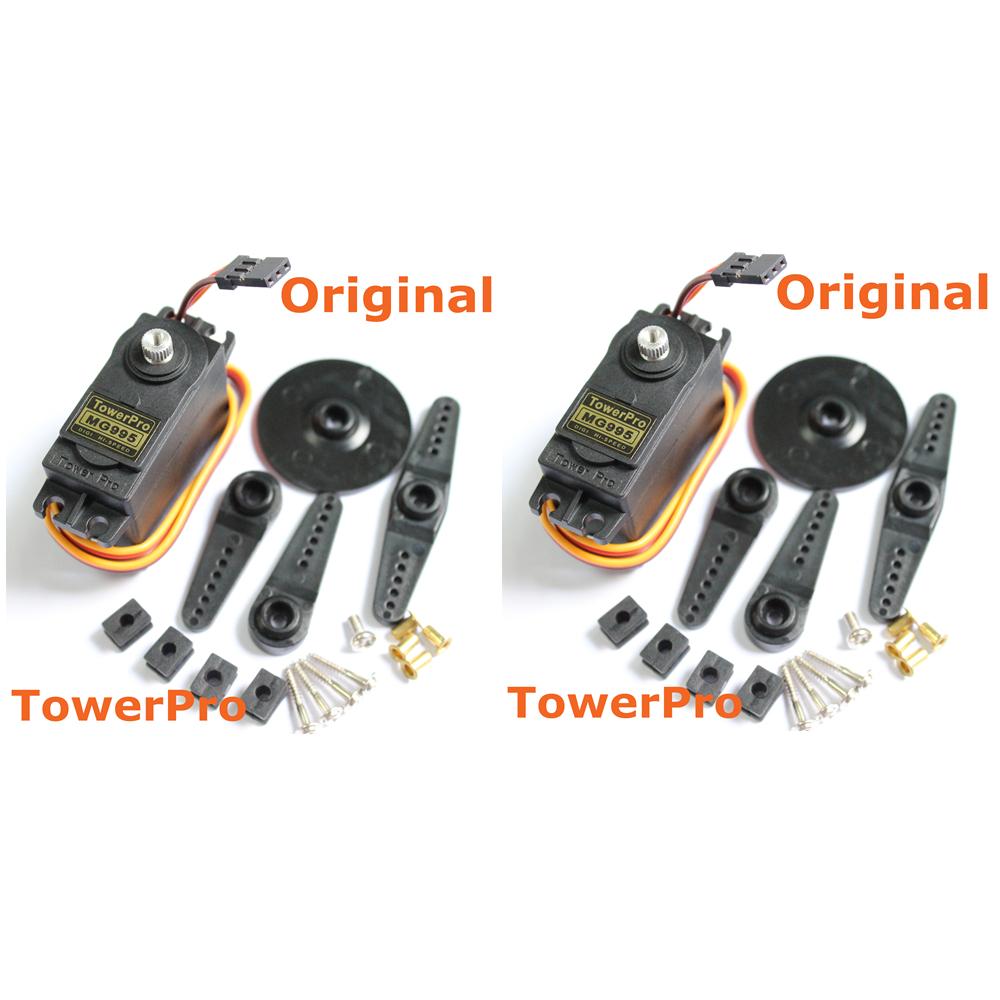 2pcs lot original towerpro mg995 rc servo motor digital for Rc car servo motor
