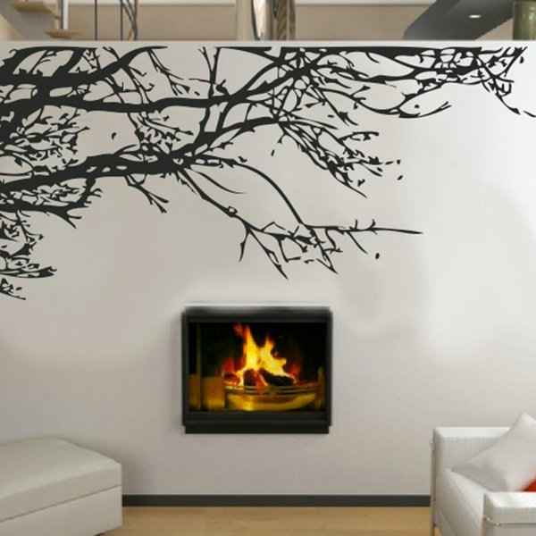 Vintage 90*60 cm Decor Stunning Tree Branch Removable Bed Room Art Mural Vinyl Wall Stickers Home decor(China (Mainland))