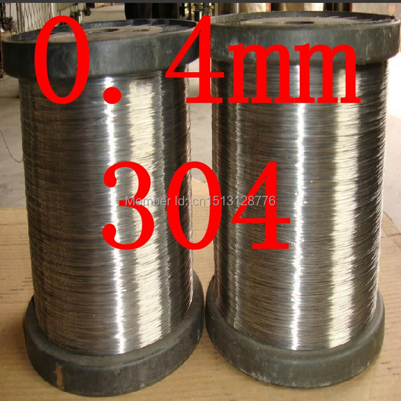 0.4mm diameter,hard condition,DIY,304,321,316 thread,cold rolled DIY and industry stainless steel wire,(China (Mainland))