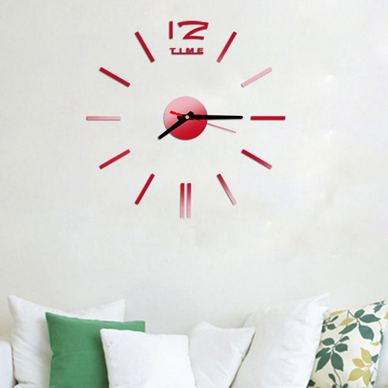 2016 New Fashion Wall Clock Acrylic Plastic Mirror Wall Home Decal Decor Vinyl Art Stickers for Home Bedroom VBD57 P15 0.5(China (Mainland))