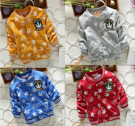 4 colors 2015 new children outerwear coat kids jackets boys spring autumn clothing(China (Mainland))