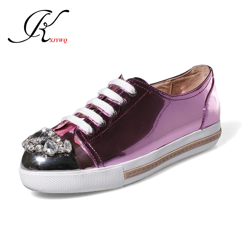 A variety of colors Genuine leather Women flats gold dress shoes oxford loafers Crystal diamonds Casual shoes Box Packing F6-1(China (Mainland))