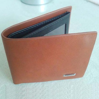 2013 new styple leahter and PU men wallet / in contrast color  / Mid Range trifold wallet for man / standard wallet