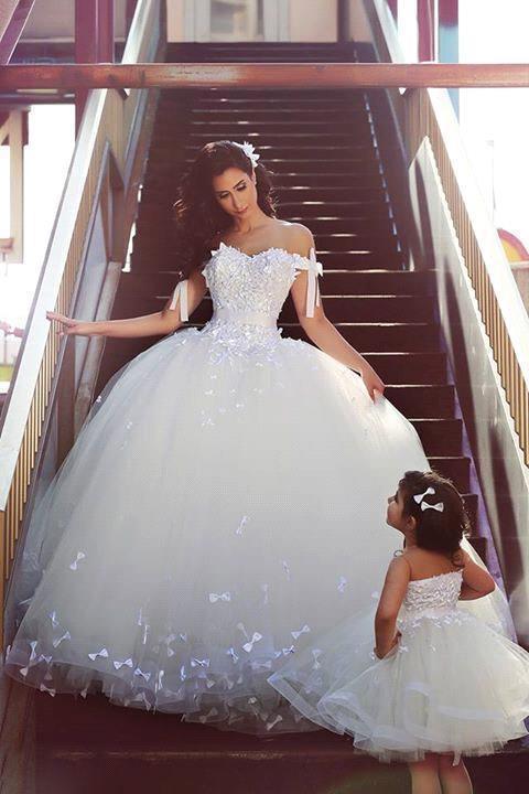 Pretty,nupcial vestidos de Novia 2016 La Madre y L..