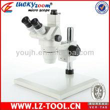 Envío gratis! 3.35X – 90X súper Widefield Zoom estéreo Trinocular microscopio del tamaño grande etapa microscopio Digital + 60LED