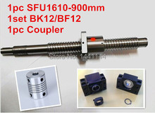 antibacklash ball screw 1610 - 900mm end machined -C7+ BK/BF12 Support + 6.35*10mm coupler The Jason August store