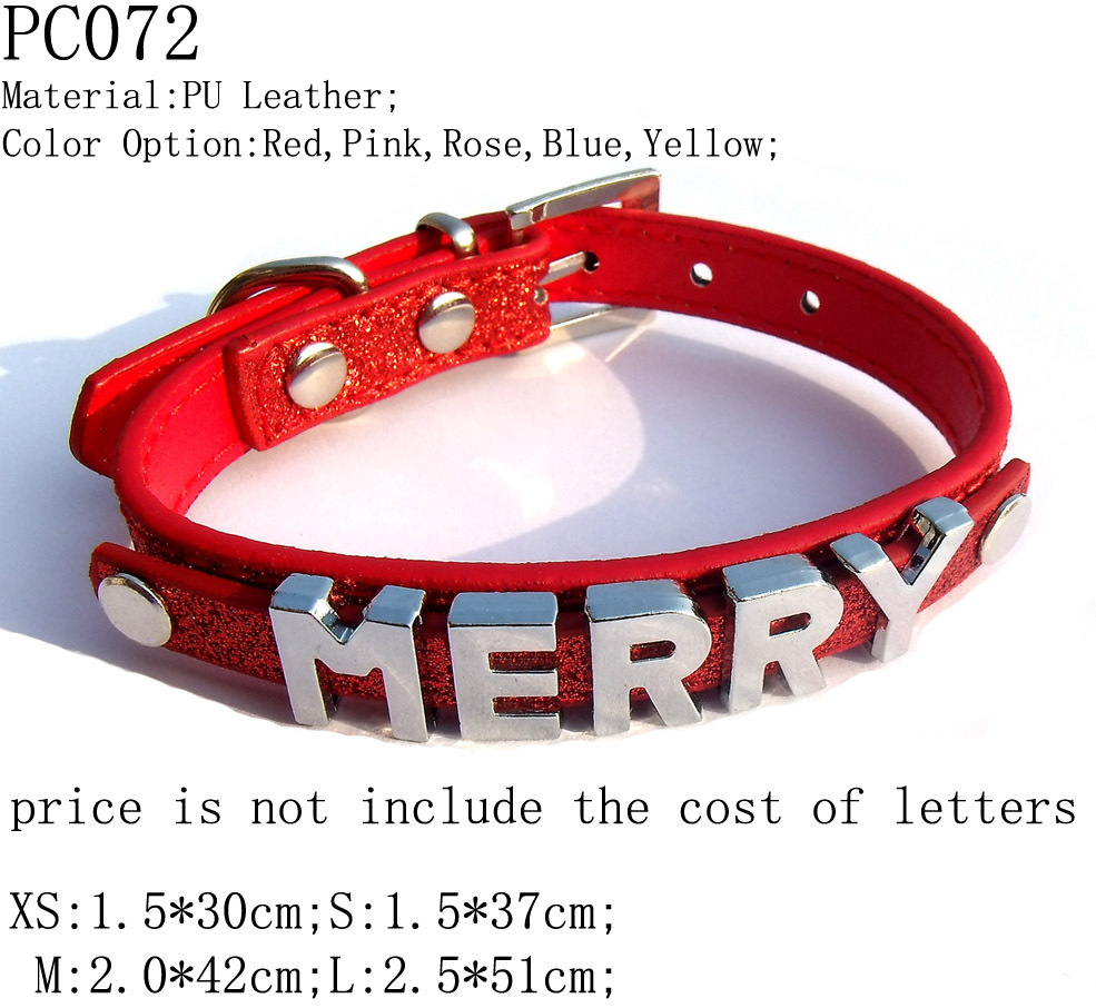10mm Glittering PU Leather DIY Pet Collar,Can Make Pet Name or A Word,Fits 10mm Metal Beads,Free Shipping Wholesale 10pcs/lot(China (Mainland))