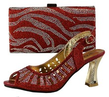 Hot sale Italian African ladies shoes and bags,high quality African ladies shoes and bag set NO.9865(China (Mainland))