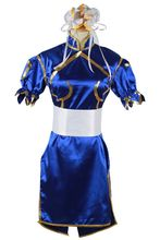 Buy Halloween costumes anime clothes Street Fighter Chun Li cosplay costume girls fancy dress game costume Cheongsam 021601 for $36.00 in AliExpress store