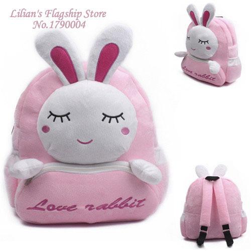 2016 новый высокое качество любовь кролик плюшевые мультфильм рюкзак дети милые мешок подарок для девочки Mochila Infantil горячая распродажа