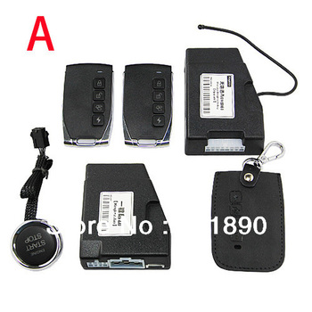 New Arrival Car Auto Remote Passive Keyless Entry Car PKE Smart Start System+Button Start free shipping wholesale # 180079