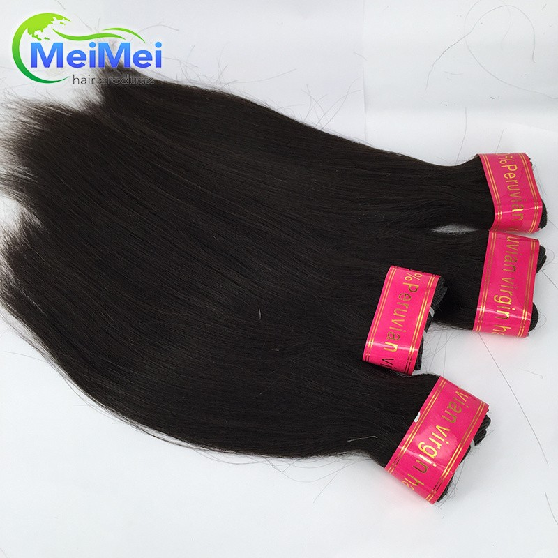 7A 4 Pcs/lot Peruvian Straight Hair Bundle 1B Peruvian Virgin Hair Straight Hair Piece Rosa hair Bundles Can Be Dyed and Curled