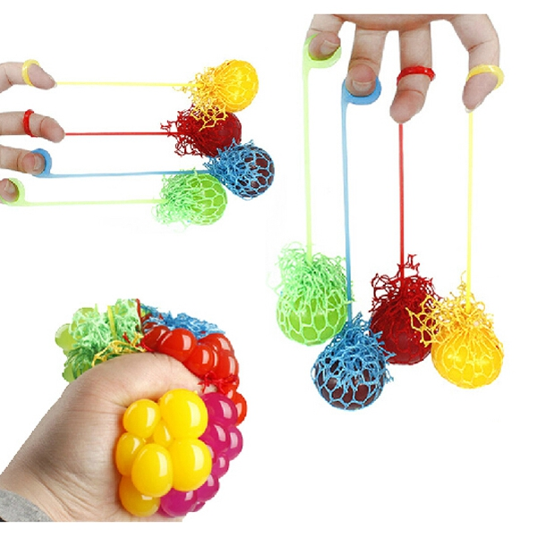New Funny Novelty Squeeze Hand Wrist Toys Stress Relief Healthy Venting Ball Grape Shape Good Selling(China (Mainland))