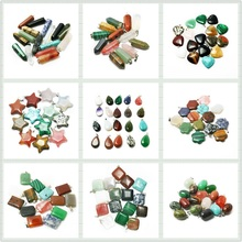 Randomly Assorted Necklace Pendants Gem Stone Charms Ntural Pendants Charms Jewelry Making Christmas Gifts (BTB)(China (Mainland))