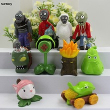Buy 10Pcs/Lot Plants Vs Zombies Action Figure Popular Cartoon PVC Toys 4-7CM Plants Vs Zombies 2 Figure Set Collection Figures Toys for $12.34 in AliExpress store
