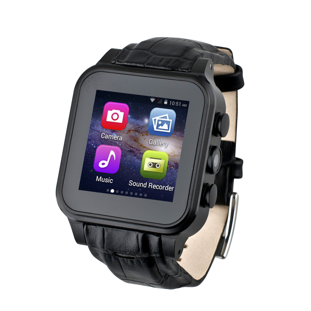 """[NEW Upgraded!] Free 32GB TF Card Exclusive 1.54"""" WiFi+GPS+SIM+3G+GSM+Compass+Play Store+1G RAM 8G ROM Android Smart Watch Phone(China (Mainland))"""