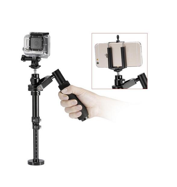 ถูก 2016ใหม่การกระทำกล้องโลหะกล้องกีฬาg oproมือถือS Teadicam S Tabilizerวิดีโอด้วยคลิปs teadycamสำหรับgo proและโทรศัพท์