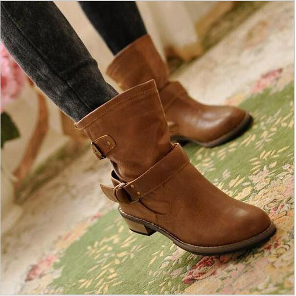 Гаджет  2015 new woman ladies shoes zapatos mujer chaussure women boots ankle boots bota Riding Boots Casual Ladies Martin Boots Q213 None Обувь