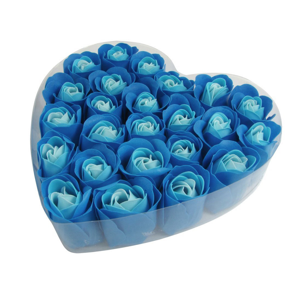 10 Pack LCLL 24 PcsScented Rose Flower Petal Bath Body Soap Wedding Party Gift In Heart Box(China (Mainland))