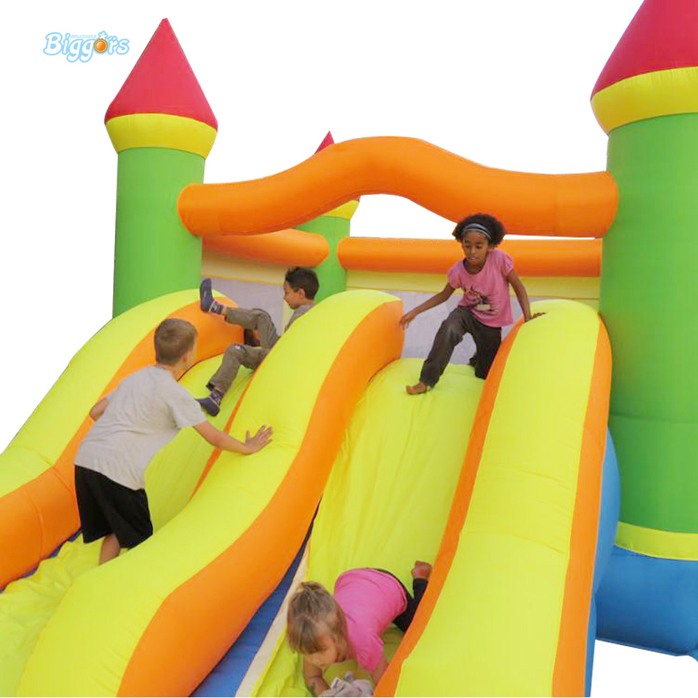 FREE SHIPPING YARD Dual Slide Bouncy Castle Inflatable Bouncer Bounce House Inflatable Trampoline for Residential Use(China (Mainland))