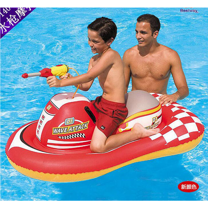 2016 water gun inflatable Motorboat PVC boat Hovercraft air Inflatable mount children Water play fun swim inflatable toy KQ-29(China (Mainland))