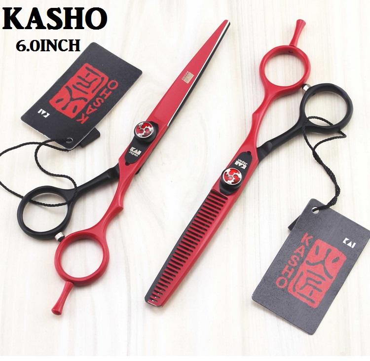 2 pcs+bag+comb kasho 55/6 inch hairdressing scissors hair professional barber scissors hair