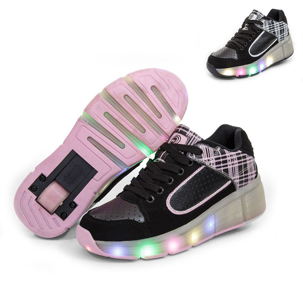 New summer Kids Heelys Breathable Shoes with Wheels Children Roller Skates Shoes Wheelys Sneakers for Boy Girls meisjes schoenen(China (Mainland))