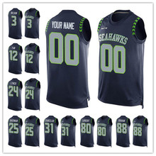 Men's Russell Marshawn Wilson Lynch Richard Kam Sherman Chancellor Jimmy Steve Graham Largent Customs Name & Number Tank Tops!(China (Mainland))