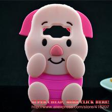Samsung Galaxy J1 Ace J110 Case 3D Pink Pig Piglet Silicone Rubber Cell phone Cases Covers Phone - Super cheap, More click here! store