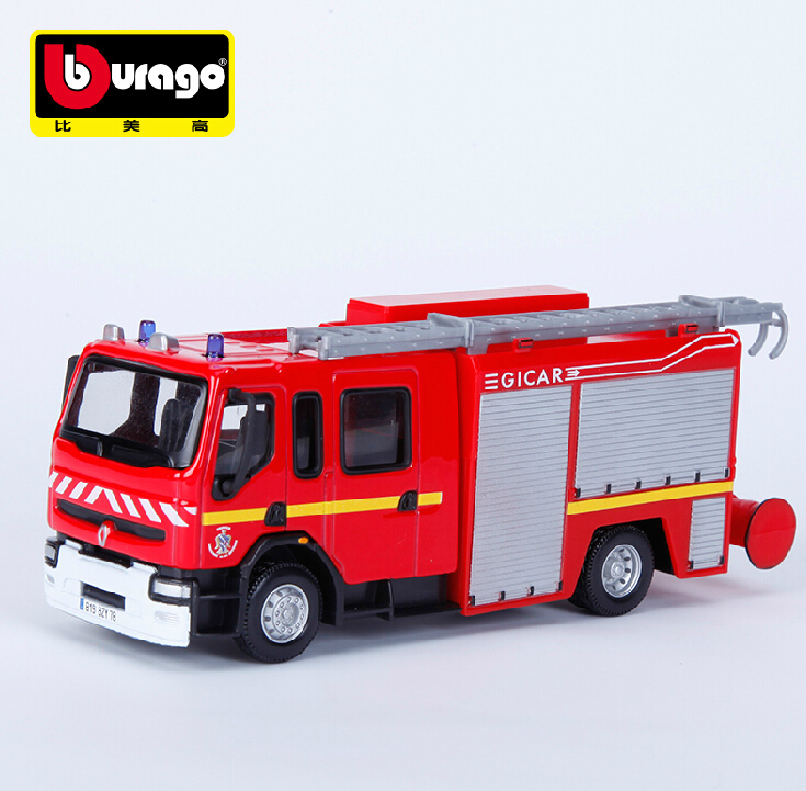 1:50 ladder truck fire truck toy model simulation model alloy car factory Children's gifts(China (Mainland))