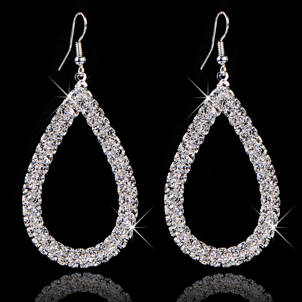 Jewellery Stores Top Quality Selling Fashion Design Big Crystal Drop Earings 2014 For Women Bridal Brand Jewelry 2014 M11(China (Mainland))
