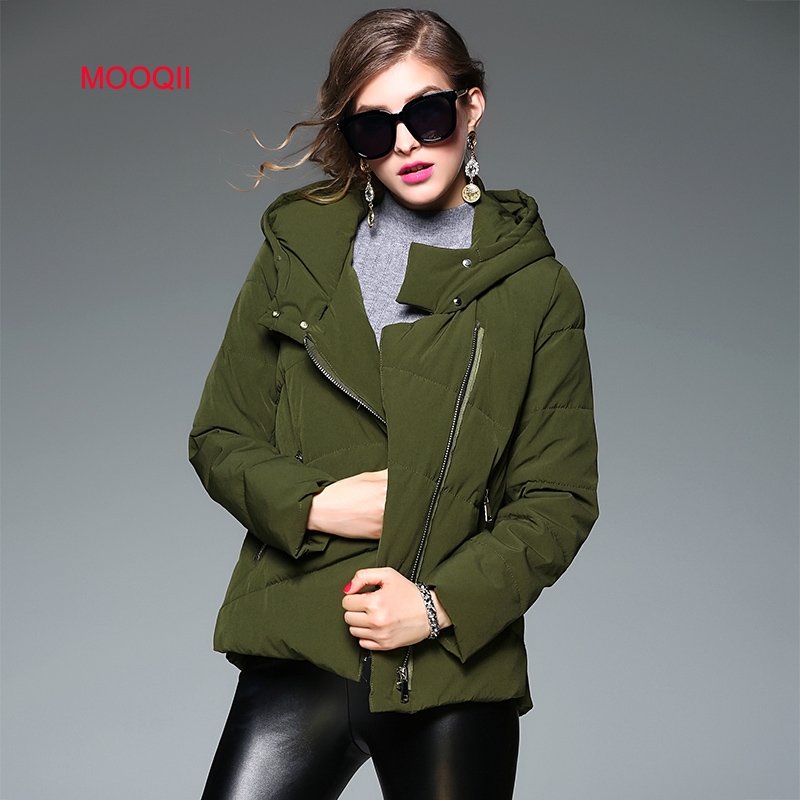 MOOQII Winter Jacket Women 2016 New Hooded Coat Parka Outwear Fashion Brand Overcoat army green thick parkas manteau femme(China (Mainland))