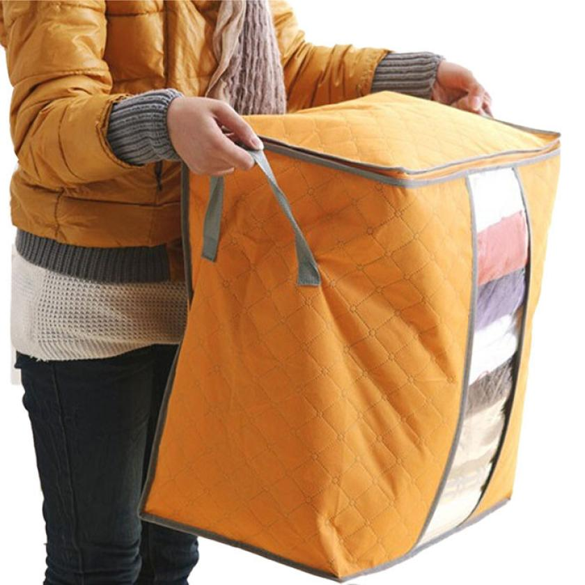 High Quality 2016 New Arrival Portable rangement Non Woven Clothing Storage Boxes Organizer free shipping(China (Mainland))