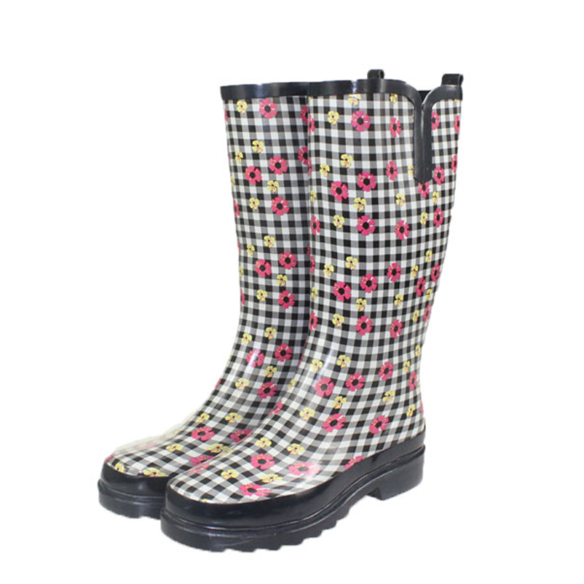Budget Plus Size Women's Rain Boots Sloggers Made In The USA A budget alternative made in the US from recycled materials are the Sloggers Wider than most normal rain boots.