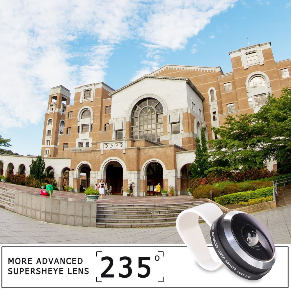Hot Sell Universal Clip Super 235 Fisheye Fish Eye Camera Lens For iPhone 6/6Pplus/5/4/iPad Samsung S5 Note 4 Cell Phone FE235