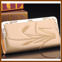 Gold Fashion Womens Leather Wallet Zip Around Case Purse CardsCoins Bag Lady Long Handbag XA429B<br><br>Aliexpress