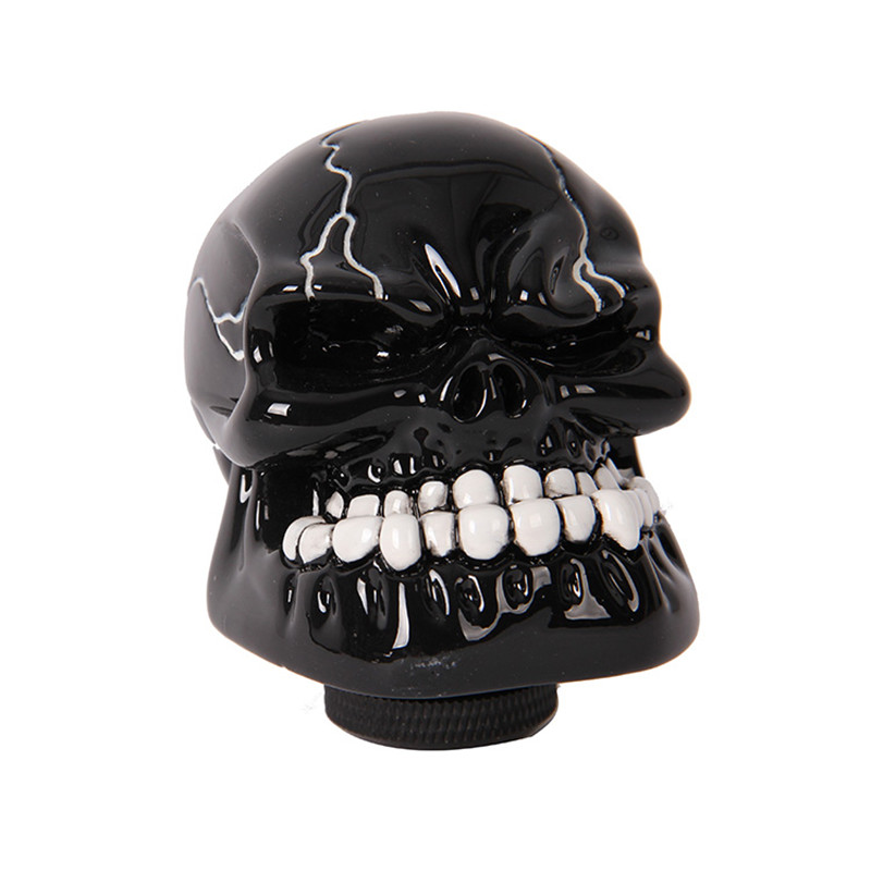 -90% OFF Car Styling Human Carved Skull Head Manual Transmission Car Auto Gear Shift Knob Shifter Lever Fit For Universal(China (Mainland))