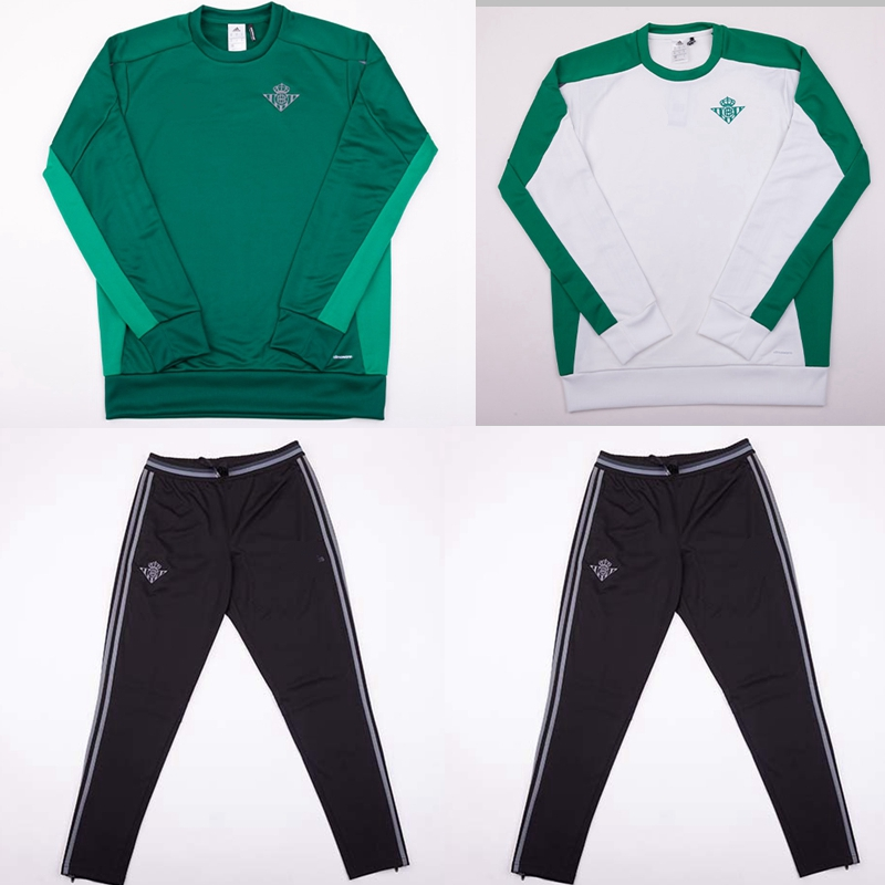 Real Betis Soccer Tracksuit football Training Suit newTop Jersey Thai Quality Training Jogging survetement football(China (Mainland))