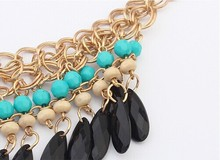 N410 Women Accessories Bohemian Style Multilayer Waterdrop Tassels Statement Fashion Necklaces For Women 2014 Statement Jewelry