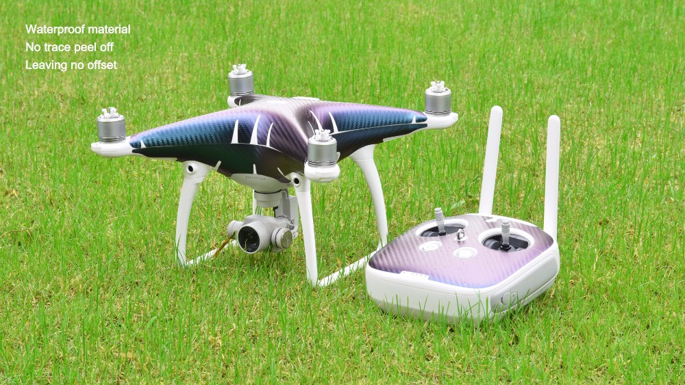 PGY DJI Phantom 4 Quadcopter Shell + Controller Accessory PVC Chameleon Fiber Skin Decal Sticker M12 body skin