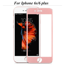 Full screen protector White and Black Premium Tempered Glass for iPhone 6 6s 6 Plus Screen guard Protector cover case film