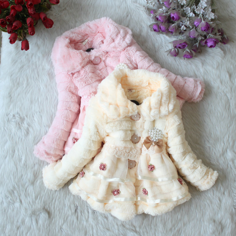 2015 Girls clothes coat clothing with bow Autumn Winter wear Clothes baby Children outerwear dress jacket